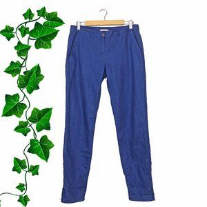 GAP Blue Linen Blend Straight Leg Pants, 6T